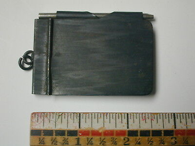 Antique Mid 19th Century Metal Cover Notepad Pendant Charm