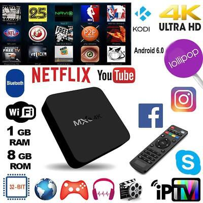 MXQ Android7.1 Quad Core 1+8G Smart TV Box 3G WIFI Set-top 4Kx2K Media Player EU