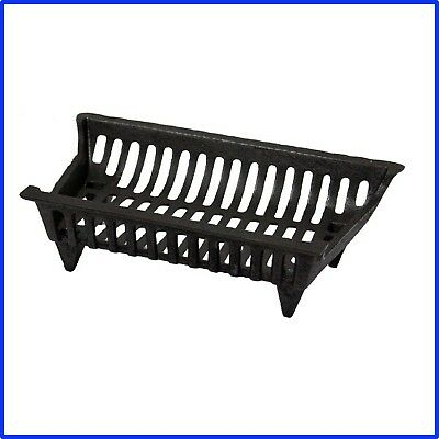Cast Iron Grate 18 in. High Temperature Black Paint Coated Durable Fireplaces US