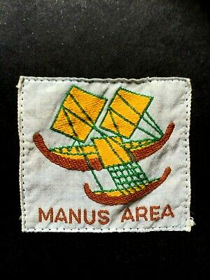 NEW GUINEA. MANUS AREA SCOUT BADGE. FIRST ISSUE. COTTON. 1950's.