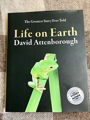 Signed LIFE ON EARTH 1st edition book David Attenborough autograph