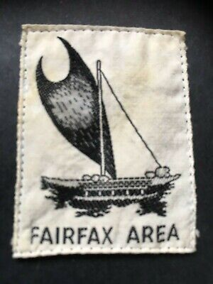 PAPUA. FAIRFAX AREA SCOUT BADGE. FIRST ISSUE. COTTON. 1950's.