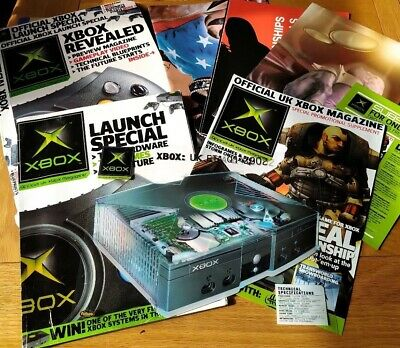X Box Launch special 2002 magazines technical blueprint 3 double sided posters