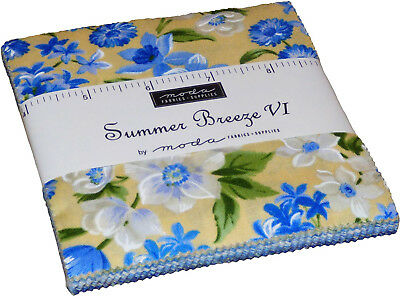 "Summer Breeze 6 Moda Quilt Fabric  2.5/""  Mini 1 Charm Pack 42 sqs 2.5/"""