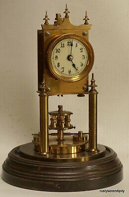 Early Gustav Becker 400 Day Clock with Disc Pendulum - matching numbers