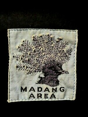 NEW GUINEA. MADANG AREA. ORIGINAL FIRST ISSUE. 1950's COTTON SCOUT BADGE.