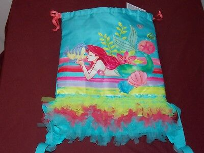 NEW Disney Parks ARIEL The Little Mermaid Ruffle Trim Backpack Bag! Flounder New
