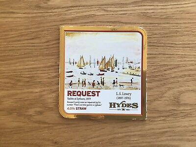 Hydes Brewery Lowry Request Beer Pump Clip