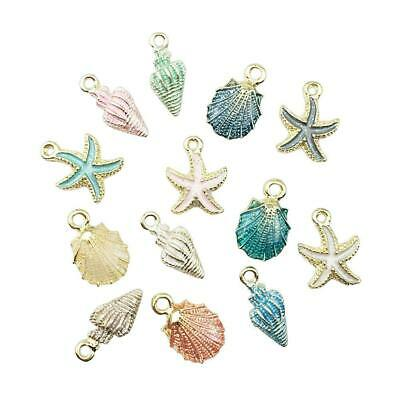 13 Pcs Conch Sea Shell Pendant DIY Charms Jewelry Making Handmade Accessory