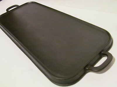 # 8 Favorite Piqua Ware ( Smiley Logo) Cast Iron Long Griddle early 1900's