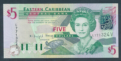 "East Caribbean States: ST VINCENT 2000 $5 ""QEII PORTRAIT"". Pick 37v UNC Cat $50"
