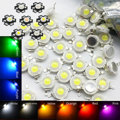 10 50 100pcs LED COB Chip LED Bulb Diodes Lamp Light Beads Cool/Warm White 3W
