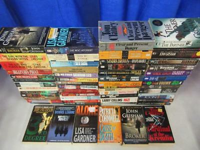 HUGE Lot (58) THRILLER SUSPENSE MYSTERY Books LISA GARDNER CLIVE CUSSLER GRISHAM