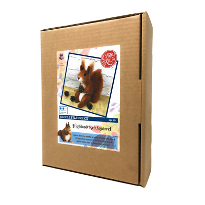Highland Red Squirrel Needle Felting Kit