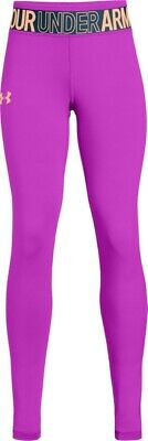 Under Armour - Girls Purple Heat Gear Leggings Uk Age 6-7 years