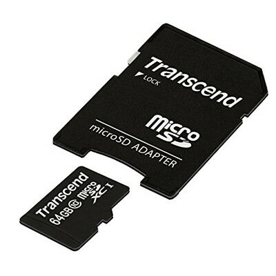 Transcend Sdxc 64Gb Micro Sd Card With Adapter-Ts64Gusdxc10