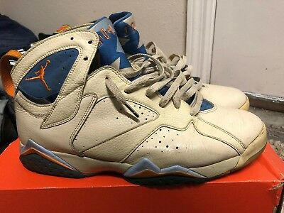 brand new 05b5f a51a2 NIKE AIR JORDAN Retro 7 VII Ceramic Pearl White Pacific Blue Size 12 2005  Rare