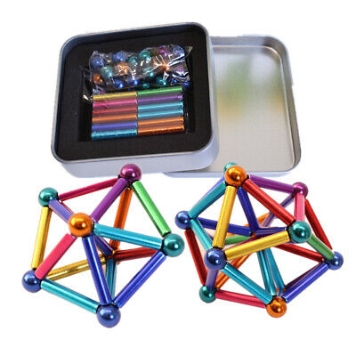 27PCs Buck Ball 36PCs Magnetic Toys Multi-color Bar Intelligent Stress