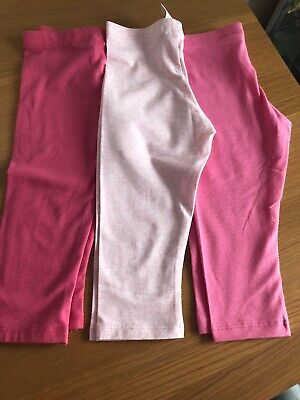 Baby Girl Leggings Bundle Pink 12-18 Months F&F