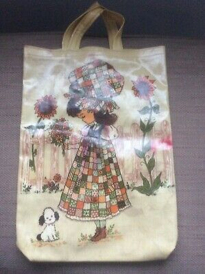 Country Kitchen 1970/1980's Vintage Holly Hobbie Style Shopping Bag PVC