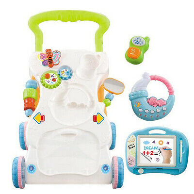 Multi-Functional Baby Walker Sit-to-Stand Walk Learning Toy Musical Trolley