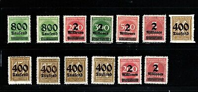 Hick Girl Stamp- Beautiful Old Mh. German Stamps  O.p. Numbers   1923     M1059