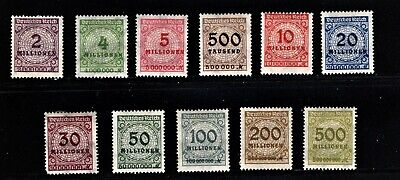 Hick Girl Stamp- Beautiful Old Mh. German Stamps  O.p. Numbers   1933     M1060