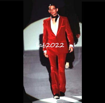 85b85b2fb GUCCI Tom Ford 1996 Most Iconic Museum Red Velvet Suit New Never Worn
