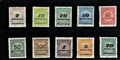 Hick Girl Stamp- Beautiful Old Mh. German Stamps  O.p. Numbers   1933     M1061