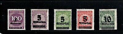 Hick Girl Stamp- Beautiful Old Mh. German Stamps  O.p. Numbers   1933     M1062