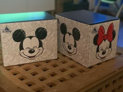 Offfical Disney New Mickey And Minnie Mouse Mugs With Spoons