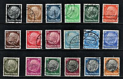 Hick Girl Stamp- Beautiful Old Used German Stamp Assortment    1933-36     M1064