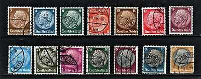 Hick Girl Stamp- Beautiful Old Used German Stamp Assortment    1933-36     M1065