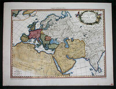 1812 Nice Original Map Wikings In America Ancient World United States Canada