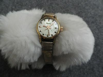 Very Old Swiss Made Elgin Ladies Wind Up Watch - Stretch Band