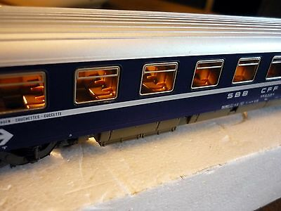 Roco HO (54234A) 2nd class Coache with couchettes Liegewagen of SBB, never used