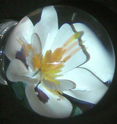 """RPCmarbles!  Vintage Home Made Art Glass Marbles """"Onion-Snow Flower"""" 2017"""