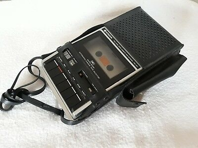 Hitachi TRQ 299 Cassette Tape Recorders With Leather Case