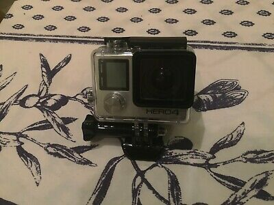 GoPro Hero4 4K Black Edition 12.0MP with waterproof housing and lense cover