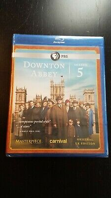 Masterpiece: Downton Abbey - Season 5 (Blu-ray Disc, 2016, 3-Disc Set)