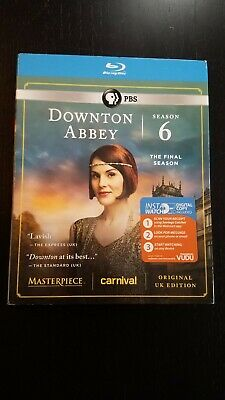 Masterpiece: Downton Abbey - Season 6 (Blu-ray, 3-Discs), New, Sealed, Slipcover