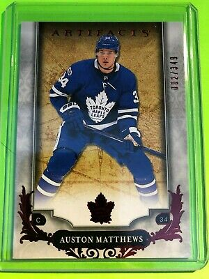 Auston Matthews - Toronto Maple Leafs 2018-19 Ud Artifacts Ruby  /349