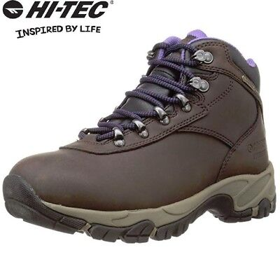 Ladies Hi Tec Leather Waterproof Lightweight Trail Hiking Shoe Womens Boots Size