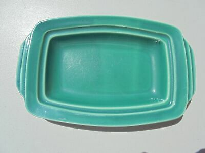 Vintage Homer Laughlin Riviera Green Butter Dish Base Only