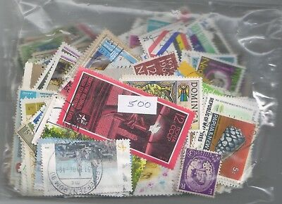 Collection of 500 Different Worldwide stamps  Very Nice Selection