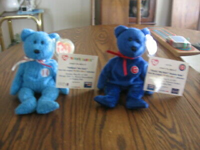 Ty Beanie Baby ADDISON & DUSTY with commemorative cards MWMT  2001 & 2003
