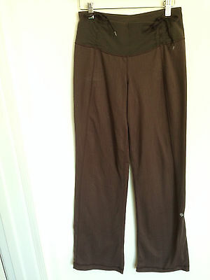 f25e87bf42cdc Lululemon Pant Herringbone Size 6 Fatigue Army Green Brown Tie at Waist  Cinch