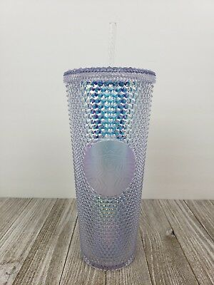 cc7db72a986 NEW Starbucks Holiday 2018 Rainbow Iridescent Glitter Traveler Tumbler Cup  24 OZ