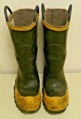 FireTech LaCrosse Firefighter Rubber Boots Size 6 Wide Turnout Steel Toe R003