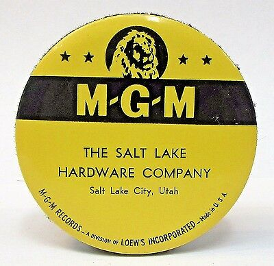vintage MGM RECORDS Salt Lake City advertising celluloid record cleaner brush *